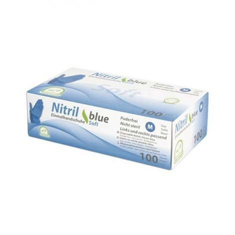 Einweghandschuhe Nitril Blue Soft